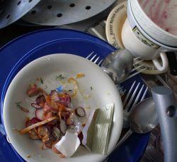 Грязная посуда – повод для ссоры