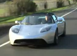 Спортивный электромобиль Tesla (видео)