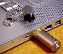 Стильная флешка Capsule USB Memory Key в форме брелока (фото)