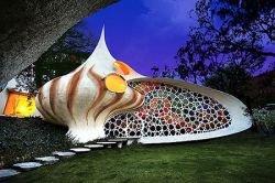 Креативный дом в стиле ракушки (фото)