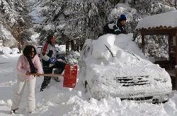 Сильный снегопад в Греции (фото)