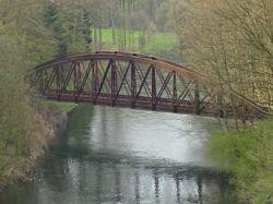 В Чехии украли четырехтонный железнодорожный мост