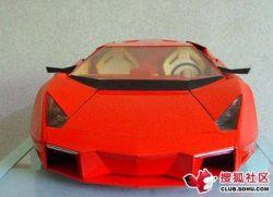 Модель Reventon Lamborghini, сделанная из сигаретных пачек (фото)