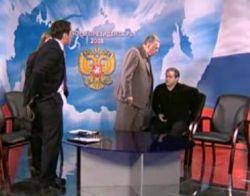 Владимир Жириновский во время записи предвыборных дебатов избил представителя Демократической партии России (видео)