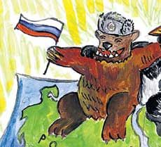 Дети рисуют Медведева