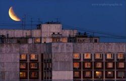 Как происходило лунное затмение в России (фото)