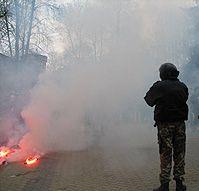 Манифестантов в Митровице разгоняли слезоточивым газом