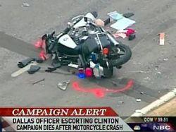 В Далласе разбился полицейский из эскорта Хиллари Клинтон