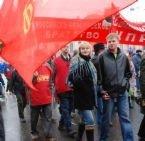 Около тысячи человек участвовали в митинге КПРФ в центре Москвы