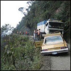 Самая опасная дорога в Боливии (фото)