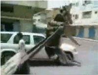 Дорожный казус с ослом (видео)