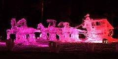 Фестиваль ледяных скульптур походит на Аляске