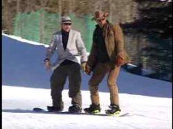 Американские изобретатели придумали, как можно кататься на сноуборде вдвоем (видео)