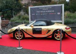 Золотой Porsche Boxster (фото)