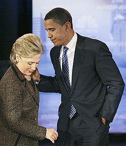Хиллари Клинтон и Барак Обама готовы к жесткому курсу по отношению к Москве