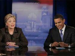 Дебаты Обамы и Клинтон оказались популярнее войны в Ираке