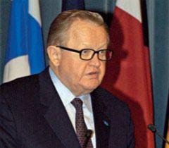 Бывший президент Финляндии Марти Ахтисаари стал кандидатом на Нобелевскую премию