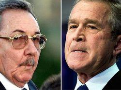 Джордж Буш отказался разговаривать с Раулем Кастро