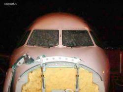 Что случается с самолетом, попавшим под сильный град?  (фото)
