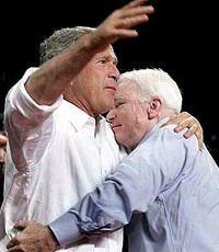 Джордж Буш объявил о поддержке кандидатуры Джона Маккейна