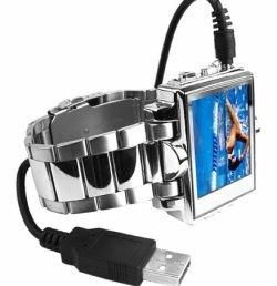 Часы с 8-гигабайтным MP4 плеером