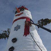 Американцы построили самого большого в мире снеговика
