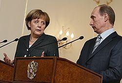 Ангела Меркель столкнулась с русским национализмом Путина и Медведева