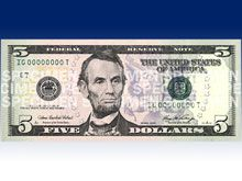 В США вводятся в обращение обновленные 5-долларовые купюры
