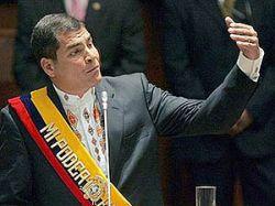 Эквадорский президент Рафаэль Корреа - Джорджу Бушу: Пришли войска или заткнись