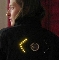 Куртка для велосипедистов с поворотниками на спине
