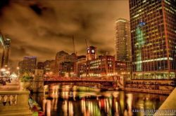 Удивительные пейзажи ночного Чикаго (фото)