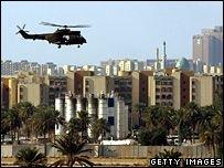 Центр Багдада подвергся мощному обстрелу