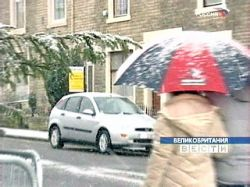 Лондон накрыл мощный снежный буран