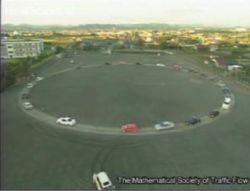 Имитация автомобильной пробки (видео)