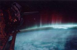 Северное сияние сфотографировали из космоса (фото)
