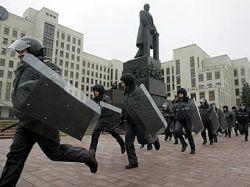 В Минске начались столкновения между оппозицией и спецназом