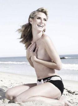 Модель Хайди Клум снялась в невидимой одежде (фото)