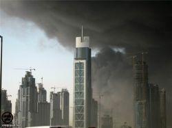 В Дубае взорвался склад пиротехники (видео)