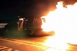 Dodge Grand Caravan с двигателем от вертолета в действии (видео)