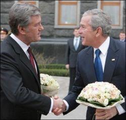Украина торжественно встретила Джорджа Буша (фото)