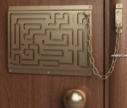 Дефендиус - дверная цепочка-лабиринт от студии Артемия Лебедева