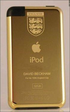 Дэвиду Бекхэму подарили золотой iPod