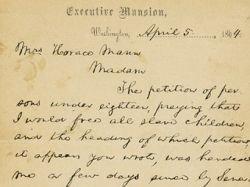 Письмо Линкольна продали за 3,4 миллиона долларов