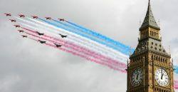 Празднование 90-летия ВВС Великобритании в Лондоне (фото)