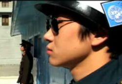 Забавы корейских пограничников (видео)