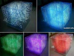LED-куб, созданный для демонстрации 3D изображения (видео)