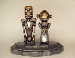 Фигуры для свадебного торта в виде роботов (фото)