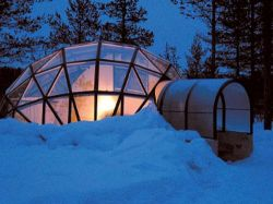 Какслауттанен – гостиница на Северном полюсе (фото)
