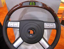 Руль Takata с GPS-навигацией указывает направление движения