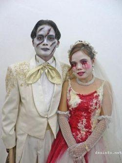 Китайская свадьба в стиле фильма ужасов (фото)